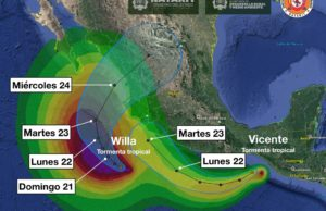Tormenta tropical Willa afectará Nayarit